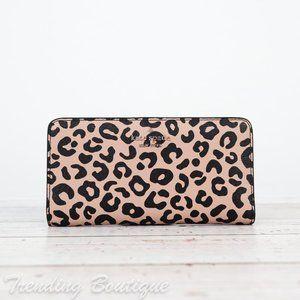NWT Kate Spade Darcy Slim Bifold Wallet in Leopard